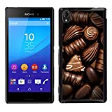 A type Colorful Printed Hard Protective Back Case Cover Shell Skin for Sony Xperia M4 Aqua Box Chocolate Candy Art Dark Sweet