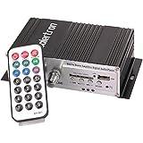 Amplificador Integrado tamaño compacto Mini de alta potencia Hi Fi estéreo USB MP3 SD AMP Amplificador de control remoto para el hogar