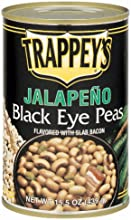 Trappey39s Jalapeno Black eye Peas   With Slab Bacon 155-Ounces  Pack of 6