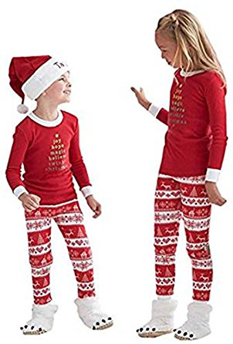 Family Striped Matching Christmas Pajamas
