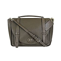 Coach Bleecker Brooklyn Pebbled Leather Messenger Bag 32263 Olive Fatigue