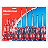 Crescent CSD10 Cushion Grip Screwdriver Set, Red/Black, 10-Piece