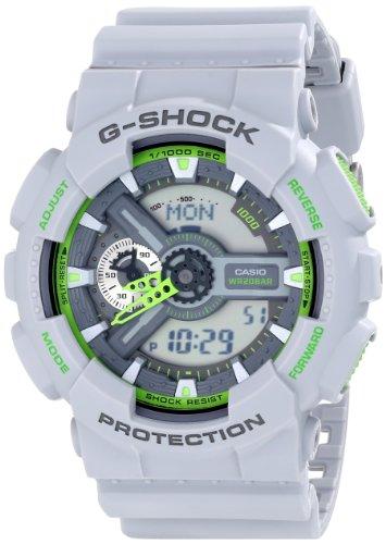 Casio Men's GA-110TS-8A3CR G-Shock Analog-Digital Display Quartz Grey Watch