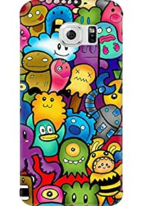 AMEZ designer printed 3d premium high quality back case cover for Samsung Galaxy S6 Edge (cute ghosts)