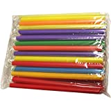 Large Milkshake Straws - Extra Wide Diameter - 35ct/Poly Bag. Cellophane Wrapped, Bright Colors. (2 Pack)