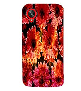 PrintDhaba Flowers D-2819 Back Case Cover for LG GOOGLE NEXUS 5 (Multi-Coloured)