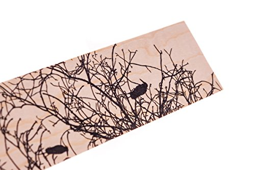 Wood Bookmark Birds on Sparse Branches Unique Mother's Day Gift Tree Raven Crow Gothic Harry Potter Wooden Bookmark Hipster Minimalist Modern Mothers Day Gift Made in USA