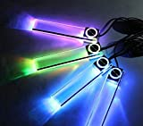 【 高級感 を 演出 する LED ライト 4本セット】 車 ドレスアップ 車内 内装 カー用品 好きな場所に 設置 可能 簡単 取り付け【 カラフルタイプ】