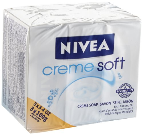 Nivea Cremeseife Creme Soft 3 St&#252;ck, 3er Pack (3 x 3 x 100g)
