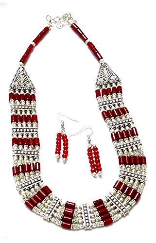 prakash-jewellers-red-coor-capsule-beads-oxidised-necklace-for-women