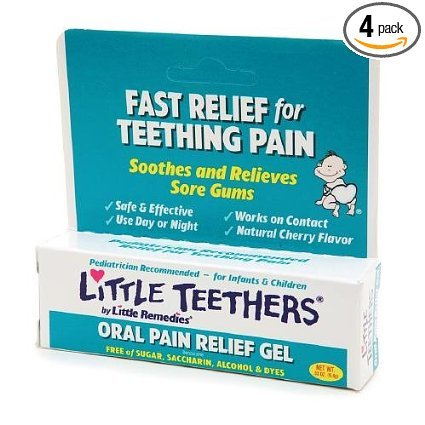 Little Teethers For Infants & Children Oral Pain Relief Gel, Cherry, .33-Ounce Tubes (Pack Of 4) front-202657