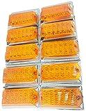 東日本内燃機 角型 サイドマーカー 橙 24V 12灯 防水仕様 10個 セット 働く男シリーズ (オレンジ)
