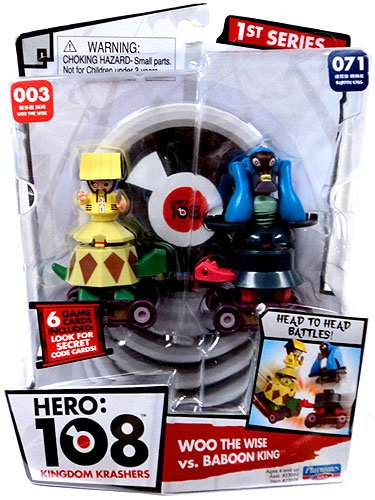 Hero 108 Kingdom Krashers Series 1 Action Figure 2Pack #003 #071 Woo the Wise Baboon King