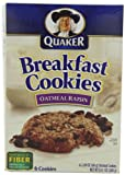 Quaker Breakfast Cookies Oatmeal Raisin, 6-Count Boxes,10.1-Ounces  (Pack of 6)