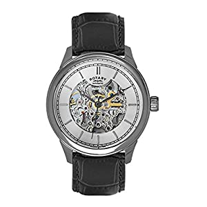 Rotary GS00160-02 Mens White Black Automatic Watch