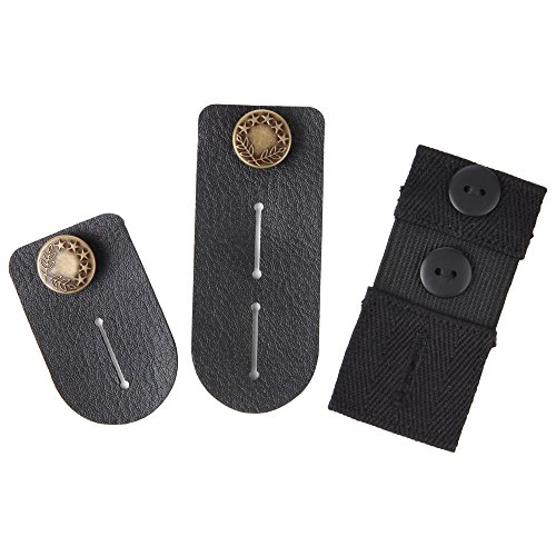 Home-X Expandable Elastic Waist Extenders. Set of 2 Small (ads 1.25 inch) and large (ads 2.5 inch). (Metal Coil Button Extenders compare prices)