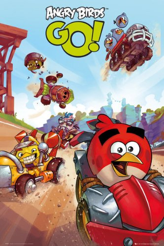 Angry Birds Video Game Poster Print - 22x34