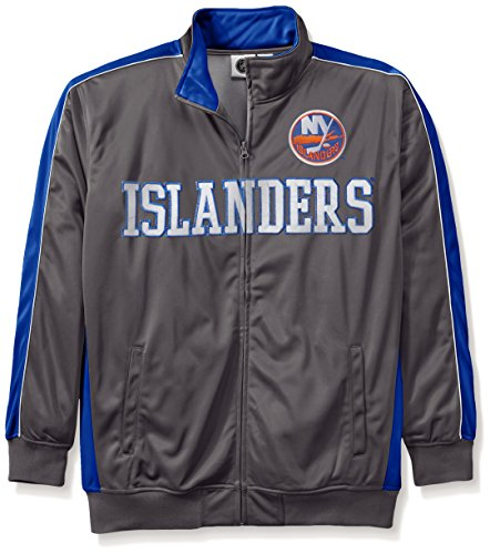NHL New York Islanders Men's Reflective Track Jacket, 4X/Tall, Charcoal/Royal (New York Islanders Jacket compare prices)