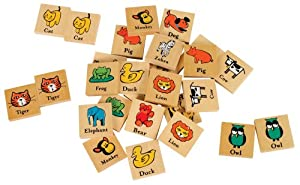 Small World Toys Ryan's Room -Wooden Matchimals (Matching Game)