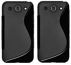Wellmart Anti-Skid Soft TPU Back Case Cover for LG Optimus G Pro F240 - Pack of 2