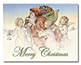 Snow Angels - Box Set of 12 Christmas Greeting Cards and matching patterned envelopes
