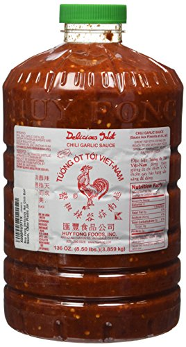 Huy Fong Delicious Hot Chili Garlic Sauce, 136oz Plastic Jar (Huy Fong Garlic Chili Sauce compare prices)