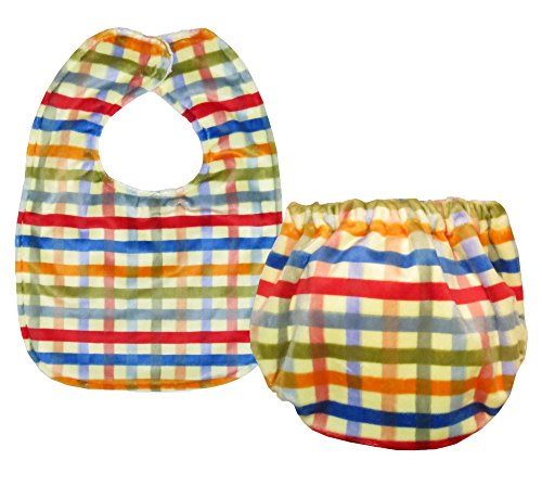 Caught Ya Lookin' Bib and Bloomer Set, Red/Yellow/Blue