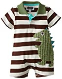 Mud Pie Baby Boys' Dino Polo One Piece