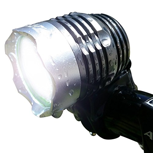 Bright Eyes - GUARANTEED Best Rechargeable Light on Amazon Under $50- 1200 lumen Rechargeable Mountain, Road Bike Headlight, New 6400mAh battery (3+ HOURS on Bright Beam) with free taillight (Dirt Bike Headlight compare prices)