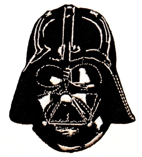 Sith Lord CD Star Wars-Casco Darth Vader ricamato Patch termoadesiva a forma di ferro da stiro
