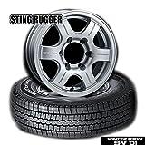 《スタッドレス/200系ハイエース》ダンロップWINTER MAXX SV01《195/80R15 107L》&ホイール《STING RUGGER》4本セット