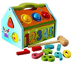 Tongmukuwan New Arrival Multi-Functional Wooden Activity Smart House Learning Toy For Babies 12 Months+