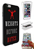 783 - Body Building Gym Work Out Design iphone 6 6S 4.7'' Fashion Trend Silikon Hülle Komplett 360 Degree Schutzhülle Gel Rubber Silicone Hülle