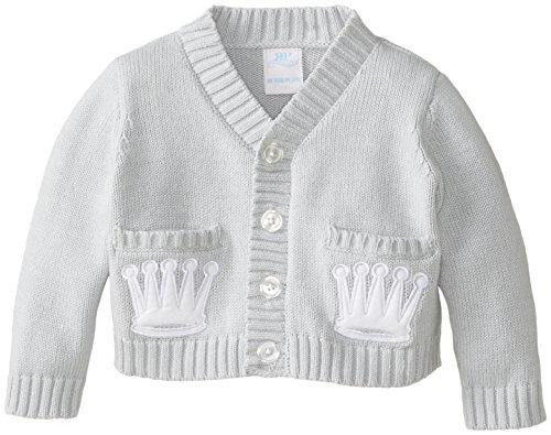 Rosie Pope Baby-Boys Newborn Cardigan, Dusk, 6 Months
