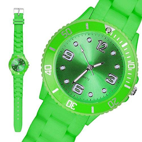 taffstyler-bunte-silikon-uhr-armbanduhr-sportuhr-wasserdicht-damenuhr-small-grun-39mm