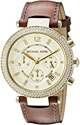 Michael Kors Women's MK2249 Parker Gold-Tone Stainless Steel Watch with Crystals