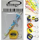 Usongs 60x - 100x Micro-Adjustable Magnifying Glass with Measuring Tape & Ballpoint Pen