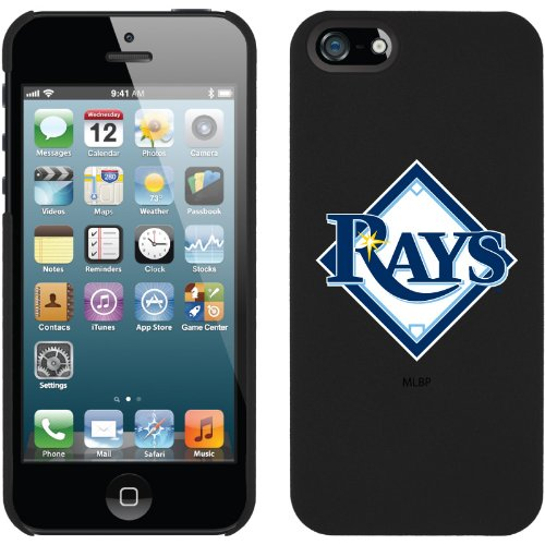 Coveroo Tampa Bay Rays Diamond Design Phone Case for iPhone 5s/5 - Retail Packaging - Black