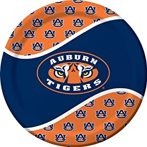Buy Creative Converting Auburn Tigers Dinner Paper Plates (8 Count) by Creative Converting