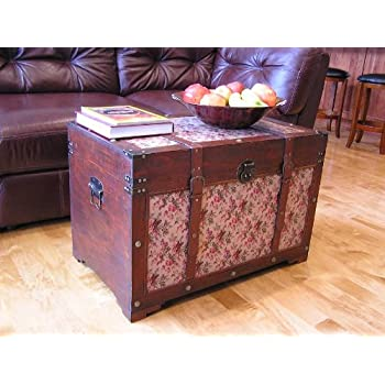 Savannah Chest Wooden Steamer Trunk - Large Size