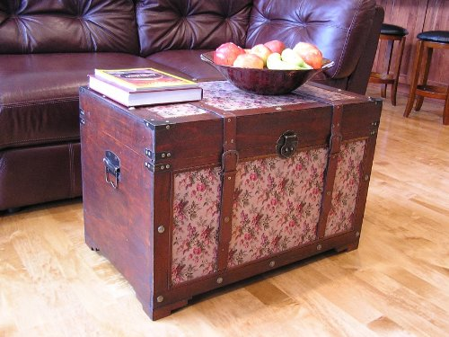 Savannah Chest Wooden Steamer Trunk - Large Size 1
