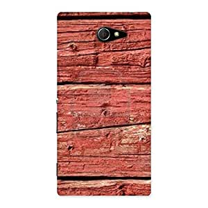 Ajay Enterprises Wo Pale Red Print Back Case Cover for Sony Xperia M2