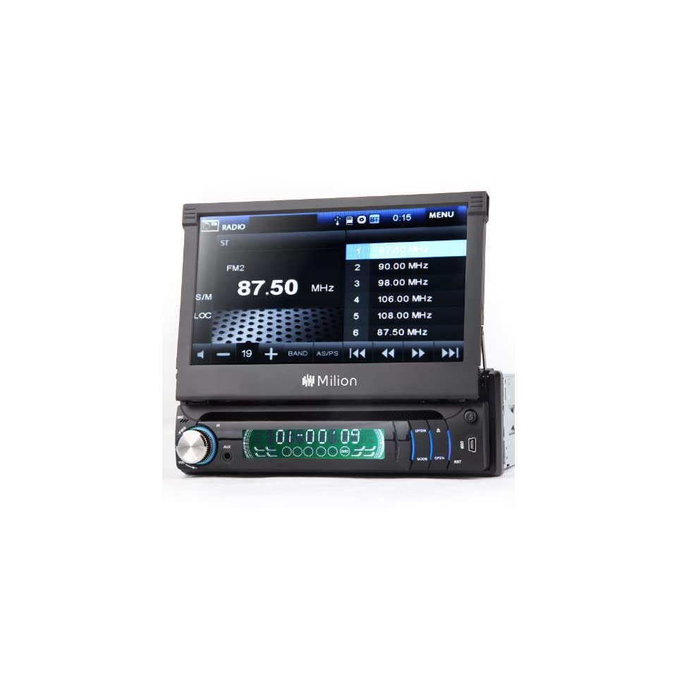 D1309B Milion 1 DIN Detachable Car DVD Stereo Radio Player BT/IPOD/USB