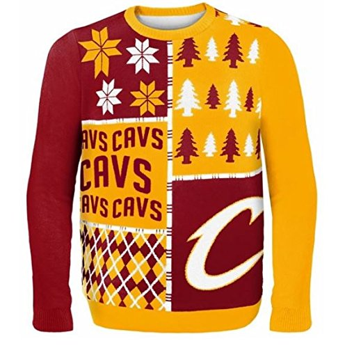Cavaliers Busy Block Ugly Sweater