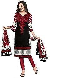 Komal arts Ethnicwear Women's Dress Material(Komal arts_SHREE4665_Black_Free Size)
