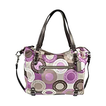 Coach Signature Snaphead Alexandra Satchel Convertiable Shoulder Bag Purse Tote 17582 Multi