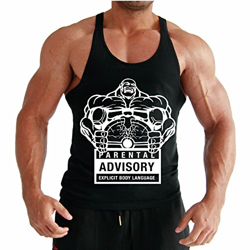parental-advisory-cuerpo-edificio-stringer-racer-back-tank-top-vest-negro-azul-real-medium