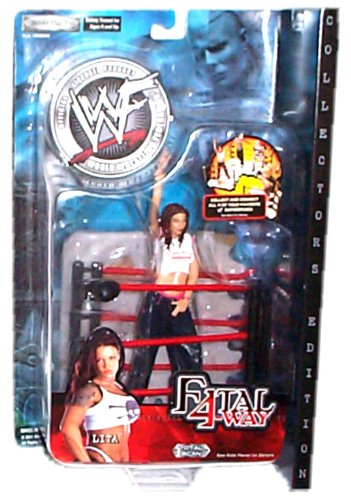 Buy Low Price Jakks Pacific WWF (World Wrestling Federation) – Fatal 4Way – Lita Figure w/accessories – Collector's Edition (B002WZYVR4)