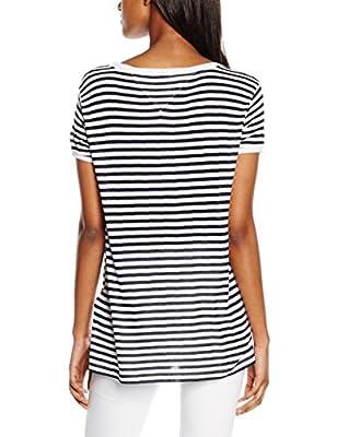 Hilfiger Denim Women's Stripe Bn Knit S/s 05 T-Shirt