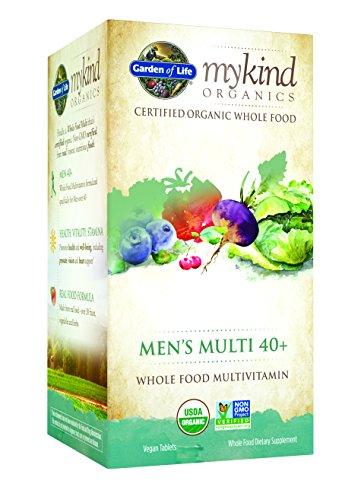 Garden of Life Organic Multivitamin Supplement for Men - mykind Men's 40+ Whole Food Vitamin, Vegan, 120 Tablets (Prostate Peak Life compare prices)